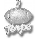 "Maryland Terrapins ""Terps Football"" Pendant - Sterling Silver Jewelry"