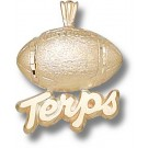 "Maryland Terrapins ""Terps Football"" Pendant - 14KT Gold Jewelry"