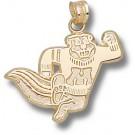 "Minnesota Golden Gophers ""Running Gopher"" Pendant - 14KT Gold Jewelry"