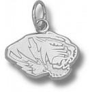 """Missouri Tigers New """"Tiger Head"""" 5/16"""" Charm - Sterling Silver Jewelry"""