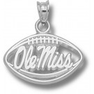 "Mississippi (Ole Miss) Rebels Pierced ""Ole Miss Football"" Pendant - Sterling Silver Jewelry"