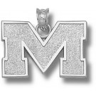 """Mississippi (Ole Miss) Rebels 1/2"""" Block """"M"""" Pendant - Sterling Silver Jewelry"""