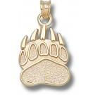 """Montana Grizzlies """"Grizzlie Paw"""" Pendant - 14KT Gold Jewelry"""