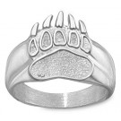 """Montana Grizzlies """"Grizzlie Paw"""" Men's Ring Size 10 1/4 - Sterling Silver Jewelry"""