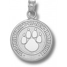 """New Hampshire Wildcats """"Paw Seal"""" Pendant - Sterling Silver Jewelry"""
