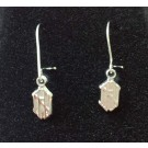 """New Hampshire Wildcats 5/16"""" """"NH"""" Dangle Earrings - Sterling Silver Jewelry"""