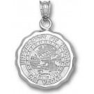 "Las Vegas (UNLV) Runnin' Rebels ""Seal"" Pendant - Sterling Silver Jewelry"