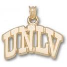 "Las Vegas (UNLV) Runnin' Rebels Arched ""UNLV"" 1/2"" Pendant - 14KT Gold Jewelry"