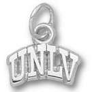 "Las Vegas (UNLV) Runnin' Rebels Arched ""UNLV"" 1/4"" Charm - Sterling Silver Jewelry"