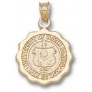 North Dakota  Sioux Seal Scalloped Pendant - 10KT Gold Jewelry