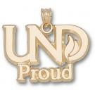 "North Dakota  Sioux ""UND Proud"" Pendant - 10KT Gold Jewelry"