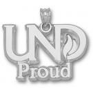 "North Dakota  Sioux ""UND Proud"" Pendant - Sterling Silver Jewelry"