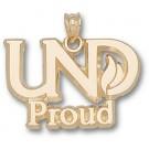 "North Dakota  Sioux ""UND Proud"" Pendant - 14KT Gold Jewelry"