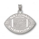 "Florida Gators 1/2"" Sterling Silver 2006 Bowl Championship Series Logo on Nickel Plated Key Chain"