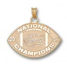 "Florida Gators 1/2"" Gold Plated 2006 Bowl Championship Series Logo on Nickel Plated Key Chain"