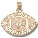 "Florida Gators 2006 Bowl Championship Series 3/4"" Sterling Silver Logo on Black Business Card Holder"