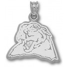 """Pittsburgh Panthers """"Panther Head"""" 1/2"""" Pendant - Sterling Silver Jewelry"""