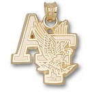 "Air Force Academy Falcons ""AF with Falcon"" Pendant - 10KT Gold Jewelry"