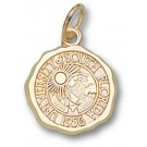 """South Florida Bulls """"Seal"""" 1/2"""" Charm - 14KT Gold Jewelry"""