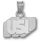 """Southern Indiana Screaming Eagles """"USI"""" 3/8"""" Pendant - Sterling Silver Jewelry"""