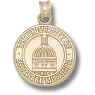 "Southern Mississippi Golden Eagles ""Dome Seal"" Pendant - 14KT Gold Jewelry"