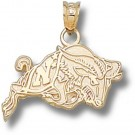"Navy Midshipmen ""Action Goat"" Pendant - 14KT Gold Jewelry"