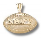 "Navy Midshipmen ""Navy Football"" Pendant - 14KT Gold Jewelry"