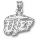 """Texas (El Paso) Miners """"UTEP"""" 7/16"""" Pendant - Sterling Silver Jewelry"""