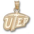 "Texas (El Paso) Miners ""UTEP"" 7/16"" Pendant - 14KT Gold Jewelry"