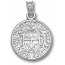 """UTEP Texas (El Paso) Miners """"Seal"""" 5/8"""" Pendant - Sterling Silver Jewelry"""