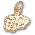 "Texas (El Paso) Miners ""UTEP"" 3/8"" Charm - 10KT Gold Jewelry"