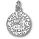 """UTEP Texas (El Paso) Miners """"Seal"""" 1/2"""" Charm - Sterling Silver Jewelry"""
