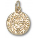 """UTEP Texas (El Paso) Miners """"Seal"""" 1/2"""" Charm - 14KT Gold Jewelry"""