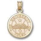 "Tulsa Golden Hurricane ""Seal"" Pendant - 14KT Gold Jewelry"