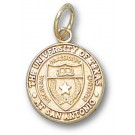 "Texas (San Antonio) Roadrunners ""Seal"" 1/2"" Charm - 14KT Gold Jewelry"