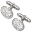 """Virginia Tech Hokies """"Seal"""" Sterling Silver Cuff Links - 1 Pair"""