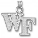 "Wake Forest Demon Deacons ""WF"" Pendant - Sterling Silver Jewelry"