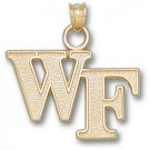 "Wake Forest Demon Deacons ""WF"" Pendant - 14KT Gold Jewelry"