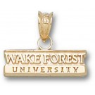 "Wake Forest Demon Deacons Bar ""Wake Forest University"" Pendant - 14KT Gold Jewelry"