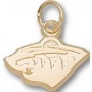 """Minnesota Wild 3/8"""" """"Wild Logo"""" Charm - 10KT Gold Jewelry"""