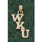 "Western Kentucky Hilltoppers Cascading ""WKU"" Pendant - 14KT Gold Jewelry"