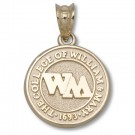 "William & Mary Tribe 1/2"" Seal Pendant - 14KT Gold Jewelry"