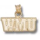 "Western Michigan Broncos ""WMU"" Pendant - 14KT Gold Jewelry"