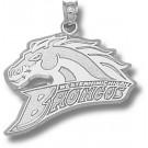 "Western Michigan Broncos ""Broncos Logo"" 5/8"" Pendant - Sterling Silver Jewelry"