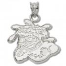 """Wichita State Shockers """"Mascot"""" Pendant - Sterling Silver Jewelry"""