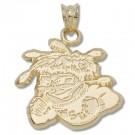 """Wichita State Shockers """"Mascot"""" Pendant - 14KT Gold Jewelry"""