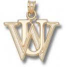 "Washington (St. Louis) Bears ""WU"" Pendant - 14KT Gold Jewelry"