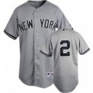 Derek Jeter New York Yankees #2 Authentic Majestic MLB Baseball Jersey (Road Gray)