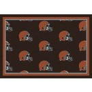 "Cleveland Browns 5' 4"" x 7' 8"" Team Repeat Area Rug (Brown)"