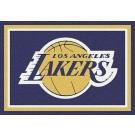 """Los Angeles Lakers 2' 8"""" x 3' 10"""" Team Spirit Area Rug"""